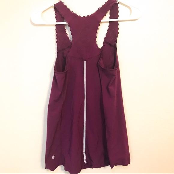 lululemon athletica Tops - Lululemon Tank Purple Lace/Eyelet Pattern 10 Rare